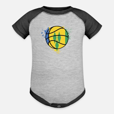 Saint-étienne Saint Vincent And The Grenadines Basketball Team - - Baseball Baby Bodysuit