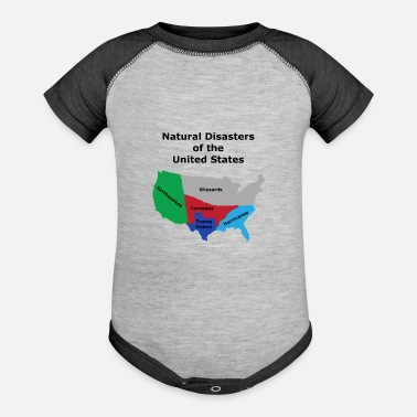 Racist Dump Trump Natural Disasters of the United States - Baseball Baby Bodysuit