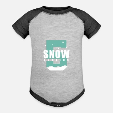 Snowstorm Snow gift snowfall snowstorm - Baseball Baby Bodysuit