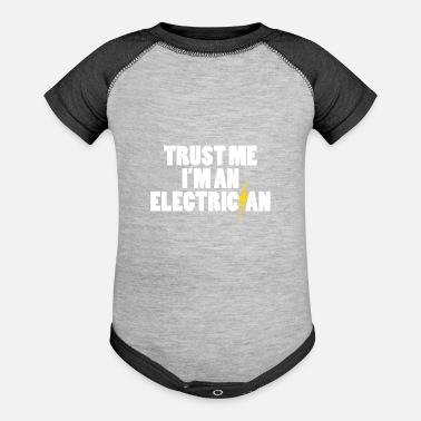 Electrician job job birthday present - Baseball Baby Bodysuit