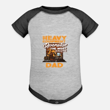 Craftsman Construction Worker Excavator Driving Dad Gift - Baseball Baby Bodysuit