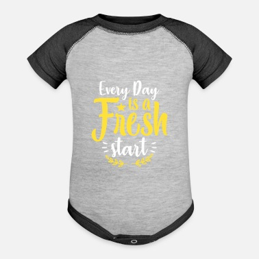 Every Day Is A Fresh Start Fresh Start - Baseball Baby Bodysuit