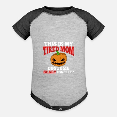 This Is My Tired Mom Costume Funny Halloween - Baseball Baby Bodysuit