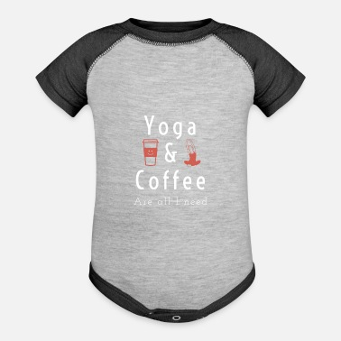 Different Yoga and Coffe Are All I Need - Baseball Baby Bodysuit