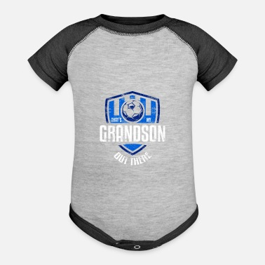 Grandson Football Soccer Grandson Family Football Quote - Baseball Baby Bodysuit
