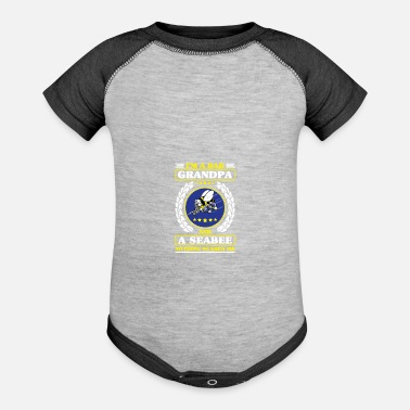 Us Navy Seabees Us Navy Shirt Seabee Patch For Veterans - Baseball Baby Bodysuit