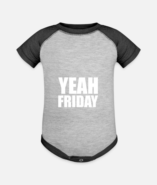 Weekday Baby One Pieces - Friday Weekend School Grad Student Club Party Gift - Baseball Baby Bodysuit heather gray/charcoal