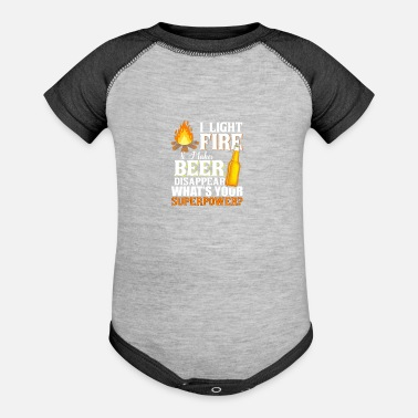 funny camping shirt for beer lovers - Baseball Baby Bodysuit