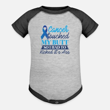 Funny Colon Cancer Colon Cancer Awareness T shirt - Baseball Baby Bodysuit