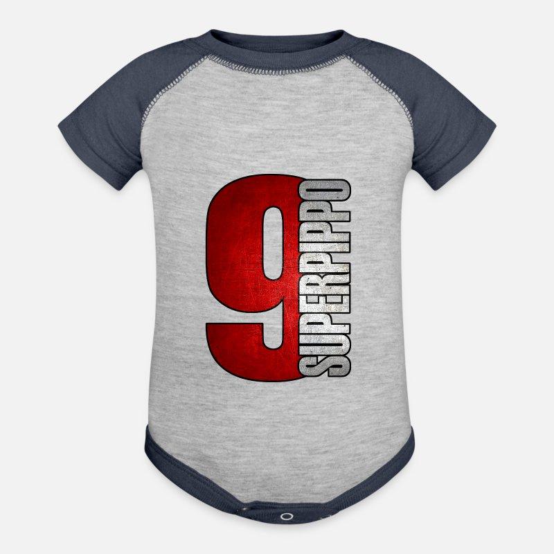 Pippo Inzaghi Ac Milan 1899 Football Soocer Club Baseball Baby Bodysuit Spreadshirt
