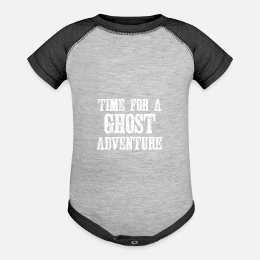 Hunting Time for a ghost adventure - Baseball Baby Bodysuit