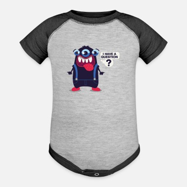 Dungarees Funny Monster Question Dungarees Kids Gift - Baseball Baby Bodysuit