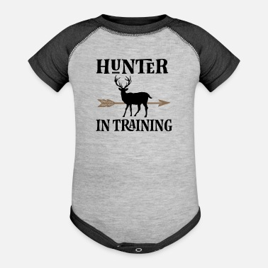 Training Hunter In Training - Contrast Baby Bodysuit