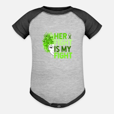 Borreliosis Her Fight Is My Fight - Baseball Baby Bodysuit