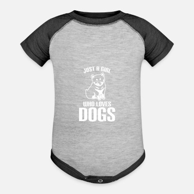 Wholetrain Just a girl who loves Dog - Baseball Baby Bodysuit