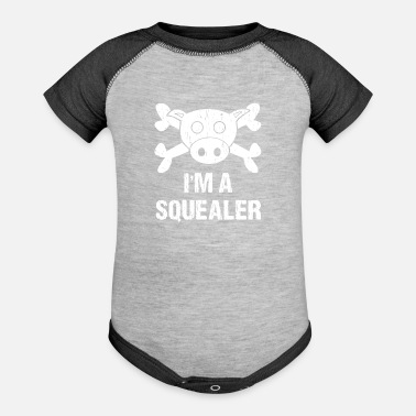 Squealer I m A Squealer Farmer - Contrast Baby Bodysuit