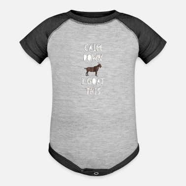 Detroit Spartans Calm Down I Goat This T-Shirt - Contrast Baby Bodysuit