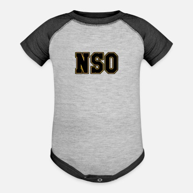 Derbyshire NSO Non Skating Official Tshirt Roller Derby - Baseball Baby Bodysuit