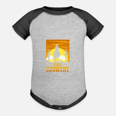 Dark Wave Dark Country, Dark Country Clubbers, Dark wave - Baseball Baby Bodysuit