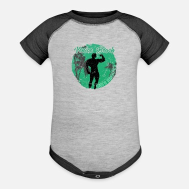 Los Angeles Vencie Beach More Muscles - Baseball Baby Bodysuit