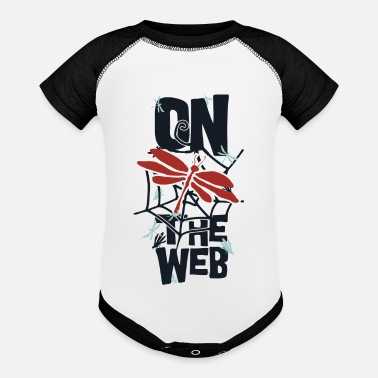 Web on the web - Contrast Baby Bodysuit