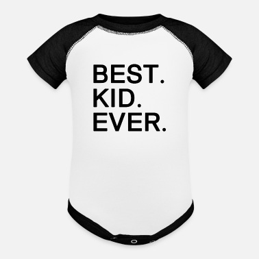 Best Best Kid Ever. Motivational Gifts for Kids. - Baseball Baby Bodysuit