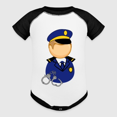cute little police man - Baby Contrast One Piece