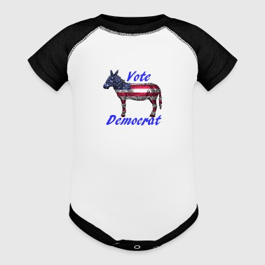 Vote Democrat - Baby Contrast One Piece