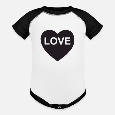 love my girl - Baseball Baby Bodysuit