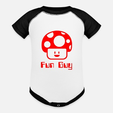 Fun Fun Guy - Baseball Baby Bodysuit