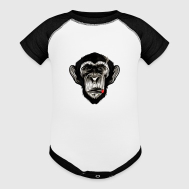 Cigar Chimp - Baby Contrast One Piece
