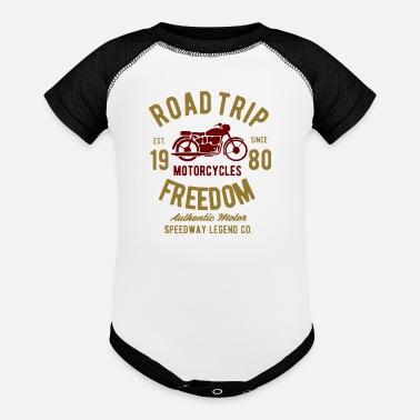 e7be565d8e Autocross road trip freedom speedway legend - Contrast Baby Bodysuit