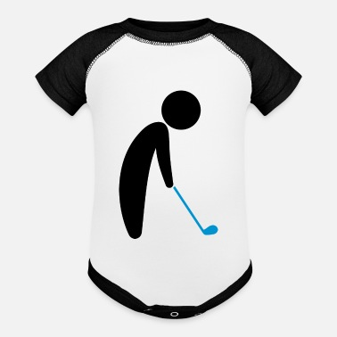 Teeing Off A Golfer About To Tee Off - Baseball Baby Bodysuit