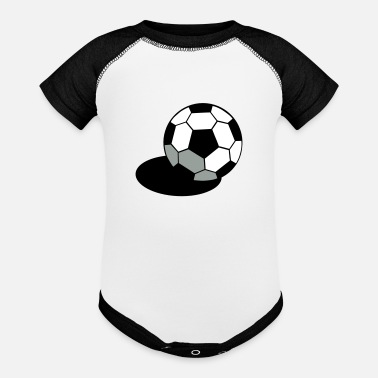Pineapple And Soccer SOCCER FOOTBALL BALL WITH A SHADOW - Baseball Baby Bodysuit
