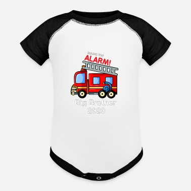 Brother Big Brother 2020 Shirt Firetruck - Contrast Baby Bodysuit