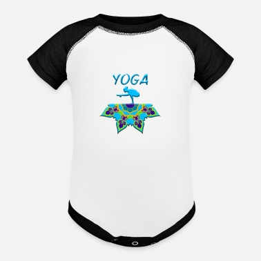 Yoga Woman Mandala - Baseball Baby Bodysuit