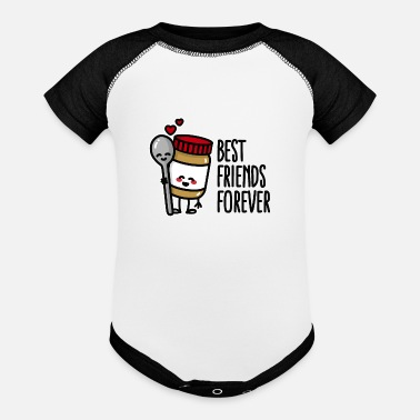 Peanut Butter Bff Best friends forever peanut butter / spoon BFF - Baseball Baby Bodysuit