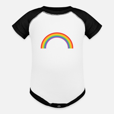 Transparent Raibow transparent - Baseball Baby Bodysuit