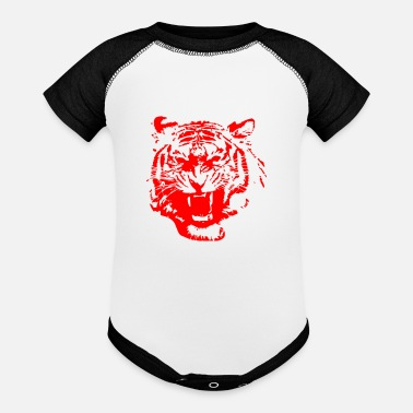 Red Tiger - Baseball Baby Bodysuit