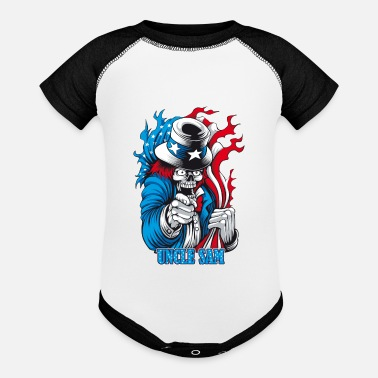 Sam Uncle Sam - Contrast Baby Bodysuit