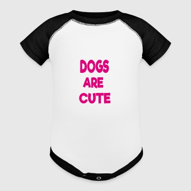 dogs are cute - Baby Contrast One Piece