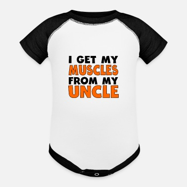 My I Get My Muscles From My Uncle - Baseball Baby Bodysuit
