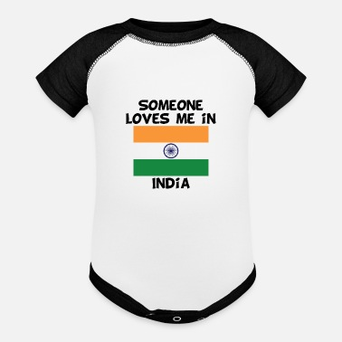Indian Someone In India Loves Me - Baseball Baby Bodysuit