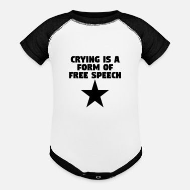 Free Crying Is A Form Of Free Speech - Baseball Baby Bodysuit