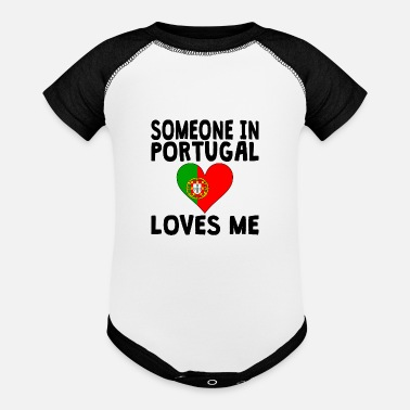Portugal Someone In Portugal Loves Me - Contrast Baby Bodysuit
