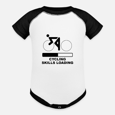 Cycling Skills Loading - Baseball Baby Bodysuit