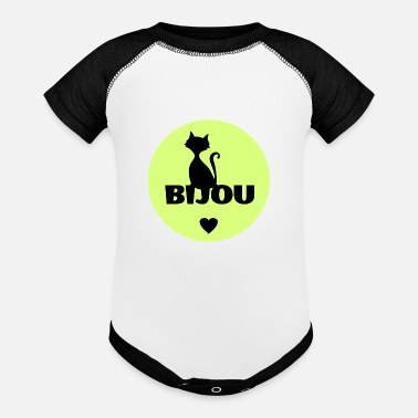 Birth Name Bijou first name cats name - Contrast Baby Bodysuit