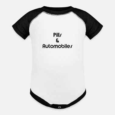 Automobile Pills & Automobiles Black - Baseball Baby Bodysuit