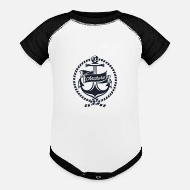 anchors - Baseball Baby Bodysuit