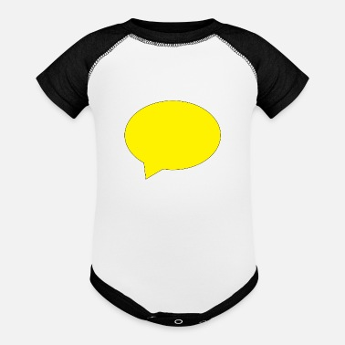 Speech Balloon balloon speech bubble speech balloon - Baseball Baby Bodysuit
